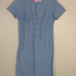 Liz Claiborne Liz wear jeans dress c40